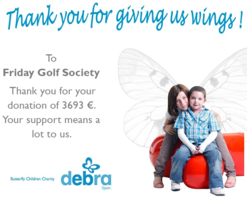 President's Day 2014 - thanks from Debra charity